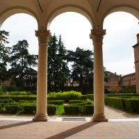 Palazzo Costabili detto di Ludovico il Moro - Loggiato esterno e giardino - Andrea Comisi - Ferrara (FE)
