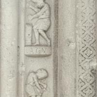 Pieve di San Giorgio. Particolare del fregio lapideo - Samaritani - Argenta (FE)