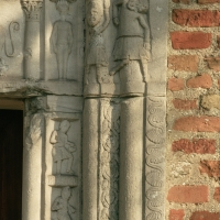 Pieve di San Giorgio. Fregio marmoreo - Samaritani - Argenta (FE)