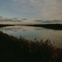 Serravalle, paesaggio fluviale al tramonto - Samaritani - Berra (FE)