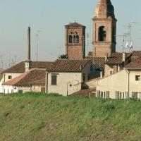campanili delle chiese dei Servi e della Natività di Maria - Samaritani - Bondeno (FE)