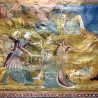 Scuola bolognese, ciclo dell'abbazia di pomposa, 1350 ca., nuovo testamento, 04 strage degli innocenti e fuga in egitto 2 - Sailko - Codigoro (FE)