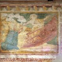 Scuola bolognese, ciclo dell'abbazia di pomposa, 1350 ca., vecchio testamento, 11 elia sul carro di fuoco - Sailko - Codigoro (FE)