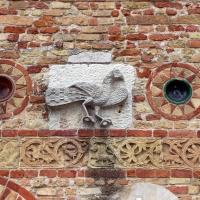 Pomposa, abbazia, atrio di mazulo del 1000-1050 ca., decori in cotto e in marmo 04 - Sailko - Codigoro (FE)