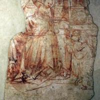 Scuola veronese, madonna col bambino, dal palazzo della ragione di pomposa, 1390 ca., sinopia - Sailko - Codigoro (FE)