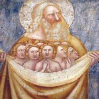 Scuola bolognese, ciclo dell'abbazia di pomposa, 1350 ca., giudizio universale, patriarchi in paradiso 02 - Sailko - Codigoro (FE)