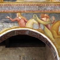Scuola bolognese, ciclo dell'abbazia di pomposa, 1350 ca., apocalisse, 05 quattro cavalieri 3 nero e verdastro - Sailko - Codigoro (FE)