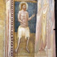 Scuola bolognese, ciclo dell'abbazia di pomposa, 1350 ca., giudizio universale, santo - Sailko - Codigoro (FE)