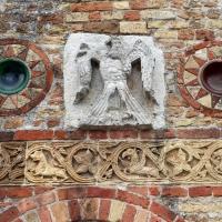 Pomposa, abbazia, atrio di mazulo del 1000-1050 ca., decori in cotto e in marmo 14 - Sailko - Codigoro (FE)