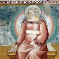 Scuola bolognese, ciclo dell'abbazia di pomposa, 1350 ca., apocalisse, 10 donna vestita di luce - Sailko - Codigoro (FE)