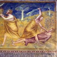 Scuola bolognese, ciclo dell'abbazia di pomposa, 1350 ca., vecchio testamento, 01 adamo, eva, caino e abele 4 - Sailko - Codigoro (FE)