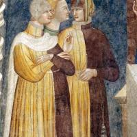 Pomposa, abbazia, refettorio, affreschi giotteschi riminesi del 1316-20, miracolo dell'abate guido strambiati 02 - Sailko - Codigoro (FE)