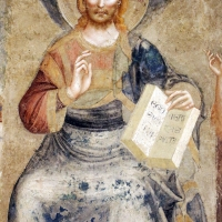 Pomposa, abbazia, refettorio, affreschi giotteschi riminesi del 1316-20, deesis 03 redentore - Sailko - Codigoro (FE)