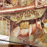 Vitale da bologna e aiuti, cristo in maestà, angeli, santi e storie di s. eustachio, 1351, 18 toro - Sailko - Codigoro (FE)