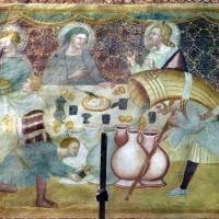 Scuola bolognese, ciclo dell'abbazia di pomposa, 1350 ca., nuovo testamento, 07 nozze di cana 2 - Sailko - Codigoro (FE)