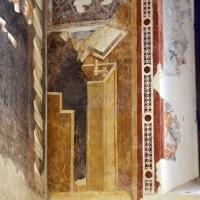Pomposa, abbazia, refettorio, affreschi giotteschi riminesi del 1316-20, scranni 01 - Sailko - Codigoro (FE)