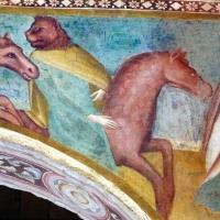 Scuola bolognese, ciclo dell'abbazia di pomposa, 1350 ca., apocalisse, 06 cavalieri con testa leonina 3 - Sailko - Codigoro (FE)