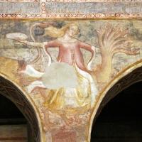 Scuola bolognese, ciclo dell'abbazia di pomposa, 1350 ca., apocalisse, 16 bebilonia grande meretrice 2 - Sailko - Codigoro (FE)