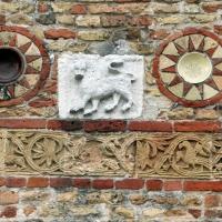 Pomposa, abbazia, atrio di mazulo del 1000-1050 ca., decori in cotto e in marmo 15 - Sailko - Codigoro (FE)