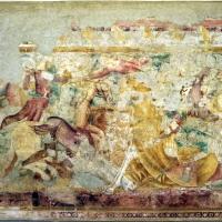 Andrea de' bartoli (attr.), battaglia di bet-zacaria tra giuda maccabeo e antico V eupatore, 1350-1400 ca. 01 - Sailko - Codigoro (FE)