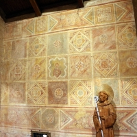Scuola riminese, affreschi geometrici con bustini di santi, 1350-1400 ca. , 05 - Sailko - Codigoro (FE)