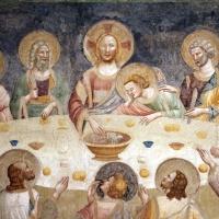 Pomposa, abbazia, refettorio, affreschi giotteschi riminesi del 1316-20, ultima cena 02 - Sailko - Codigoro (FE)