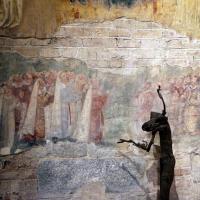 Scuola riminese, madonna col bambino e angeli, 1350-1400 ca. 03 devoti - Sailko - Codigoro (FE)