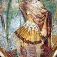 Scuola bolognese, ciclo dell'abbazia di pomposa, 1350 ca., apocalisse, 11 michele e gli angeli sconfiggono satana 4 - Sailko - Codigoro (FE)
