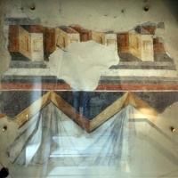 Museo pomposiano, affreschi a finto fregio e tendaggi, xiv secolo - Sailko - Codigoro (FE)