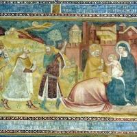 Scuola bolognese, ciclo dell'abbazia di pomposa, 1350 ca., nuovo testamento, 03 adorazione dei magi 1 - Sailko - Codigoro (FE)