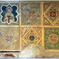Scuola riminese, affreschi geometrici con bustini di santi, 1350-1400 ca. 01 - Sailko - Codigoro (FE)