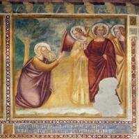 Scuola bolognese, ciclo dell'abbazia di pomposa, 1350 ca., vecchio testamento, 03 abramo e gli angeli - Sailko - Codigoro (FE)