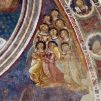Vitale da bologna e aiuti, cristo in maestà, angeli, santi e storie di s. eustachio, 1351, 09 - Sailko - Codigoro (FE)