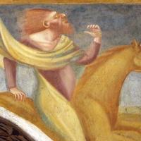 Scuola bolognese, ciclo dell'abbazia di pomposa, 1350 ca., apocalisse, 05 quattro cavalieri 4,2 verdastro, morte - Sailko - Codigoro (FE)
