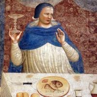 Pomposa, abbazia, refettorio, affreschi giotteschi riminesi del 1316-20, miracolo dell'abate guido strambiati 03 - Sailko - Codigoro (FE)