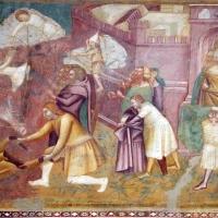 Scuola bolognese, ciclo dell'abbazia di pomposa, 1350 ca., nuovo testamento, 11 entrata in gerusalemme 2 - Sailko - Codigoro (FE)