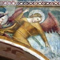 Scuola bolognese, ciclo dell'abbazia di pomposa, 1350 ca., apocalisse, 11 michele e gli angeli sconfiggono satana 3 - Sailko - Codigoro (FE)