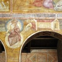 Scuola bolognese, ciclo dell'abbazia di pomposa, 1350 ca., apocalisse, 15 gesù chiama gli angeli 1 - Sailko - Codigoro (FE)