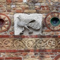 Pomposa, abbazia, atrio di mazulo del 1000-1050 ca., decori in cotto e in marmo 12 - Sailko - Codigoro (FE)