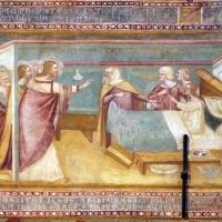 Scuola bolognese, ciclo dell'abbazia di pomposa, 1350 ca., nuovo testamento, 08 miracolo di resurrezione - Sailko - Codigoro (FE)