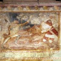Scuola bolognese, ciclo dell'abbazia di pomposa, 1350 ca., vecchio testamento, 13 davide e golia - Sailko - Codigoro (FE)