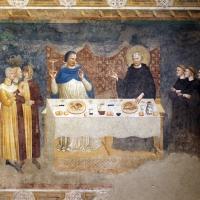 Pomposa, abbazia, refettorio, affreschi giotteschi riminesi del 1316-20, miracolo dell'abate guido strambiati 01 - Sailko - Codigoro (FE)
