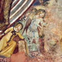 Vitale da bologna e aiuti, cristo in maestà, angeli, santi e storie di s. eustachio, 1351, 11 - Sailko - Codigoro (FE)