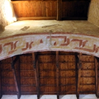 Scuola riminese, affreschi geometrici, 1350-1400 ca. , 01 - Sailko - Codigoro (FE)