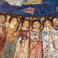 Vitale da bologna e aiuti, cristo in maestà, angeli, santi e storie di s. eustachio, 1351, 06 - Sailko - Codigoro (FE)