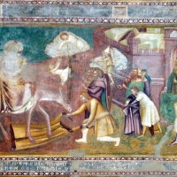 Scuola bolognese, ciclo dell'abbazia di pomposa, 1350 ca., nuovo testamento, 11 entrata in gerusalemme 1 - Sailko - Codigoro (FE)
