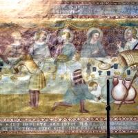 Scuola bolognese, ciclo dell'abbazia di pomposa, 1350 ca., nuovo testamento, 07 nozze di cana 1 - Sailko - Codigoro (FE)