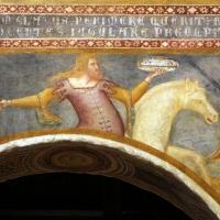 Scuola bolognese, ciclo dell'abbazia di pomposa, 1350 ca., apocalisse, 05 quattro cavalieri 1 bianco - Sailko - Codigoro (FE)