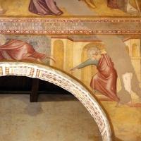 Scuola bolognese, ciclo dell'abbazia di pomposa, 1350 ca., apocalisse, 07 consegna del libro 2 - Sailko - Codigoro (FE)