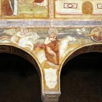 Scuola bolognese, ciclo dell'abbazia di pomposa, 1350 ca., apocalisse, 17 anbgeli e cavaliere bianco 1 - Sailko - Codigoro (FE)